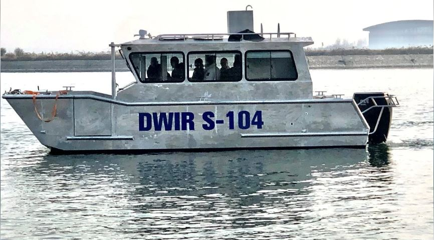 Saltwater Commercial Boats 8.0m Survey barge with OXE 200 to the government of Myanmar