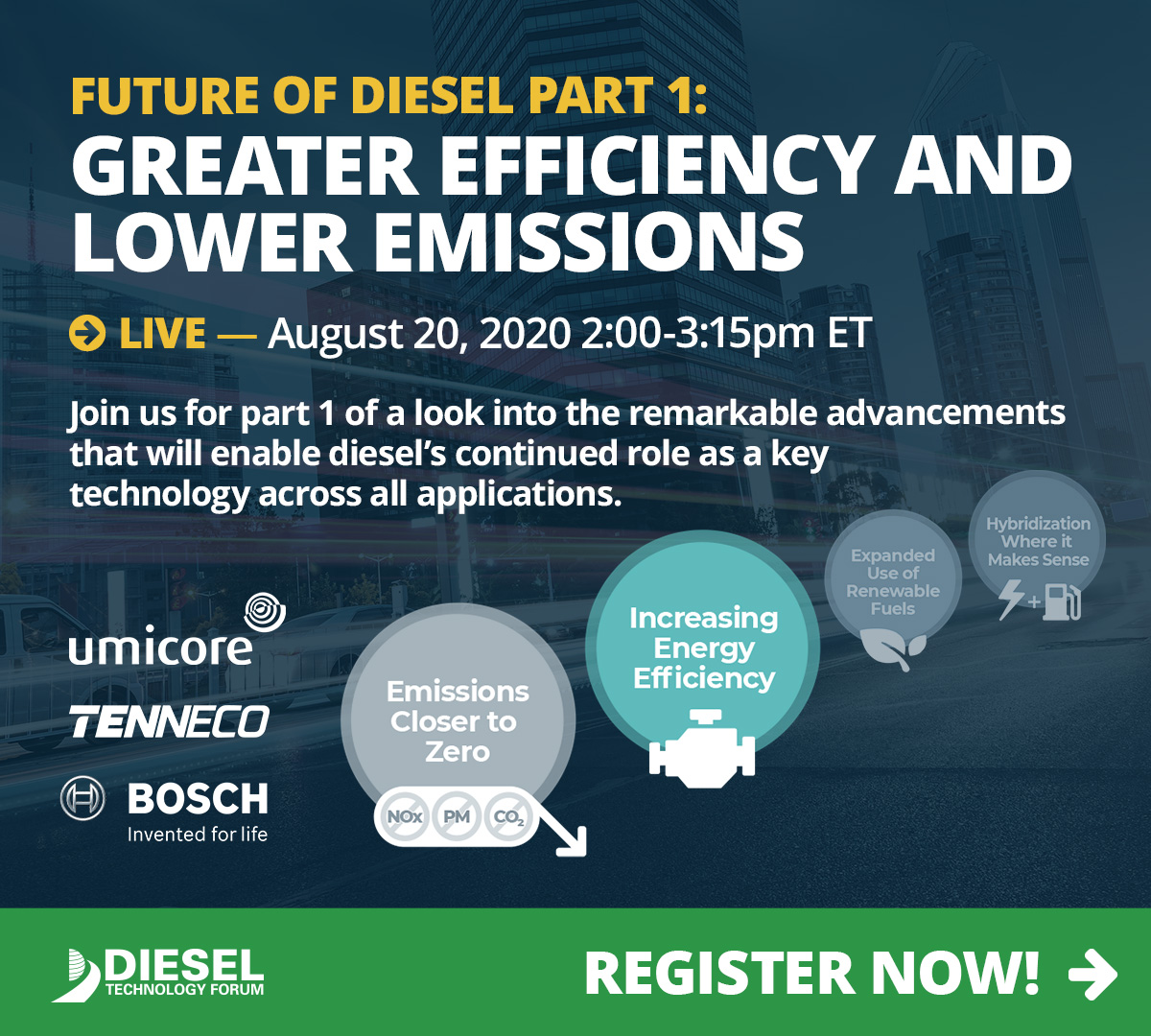 FUTURE OF DIESEL PART 1: GREATER EFFICIENCY AND LOWER EMISSIONS