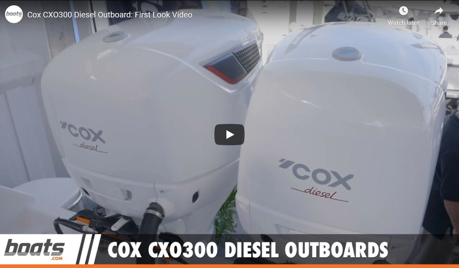 Cox CXO300 Diesel Outboard Review