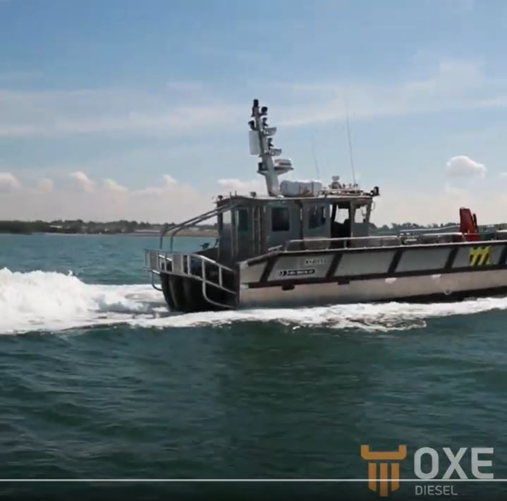 OXE Diesel so much more fuel efficient and safer than a petrol outboard.
