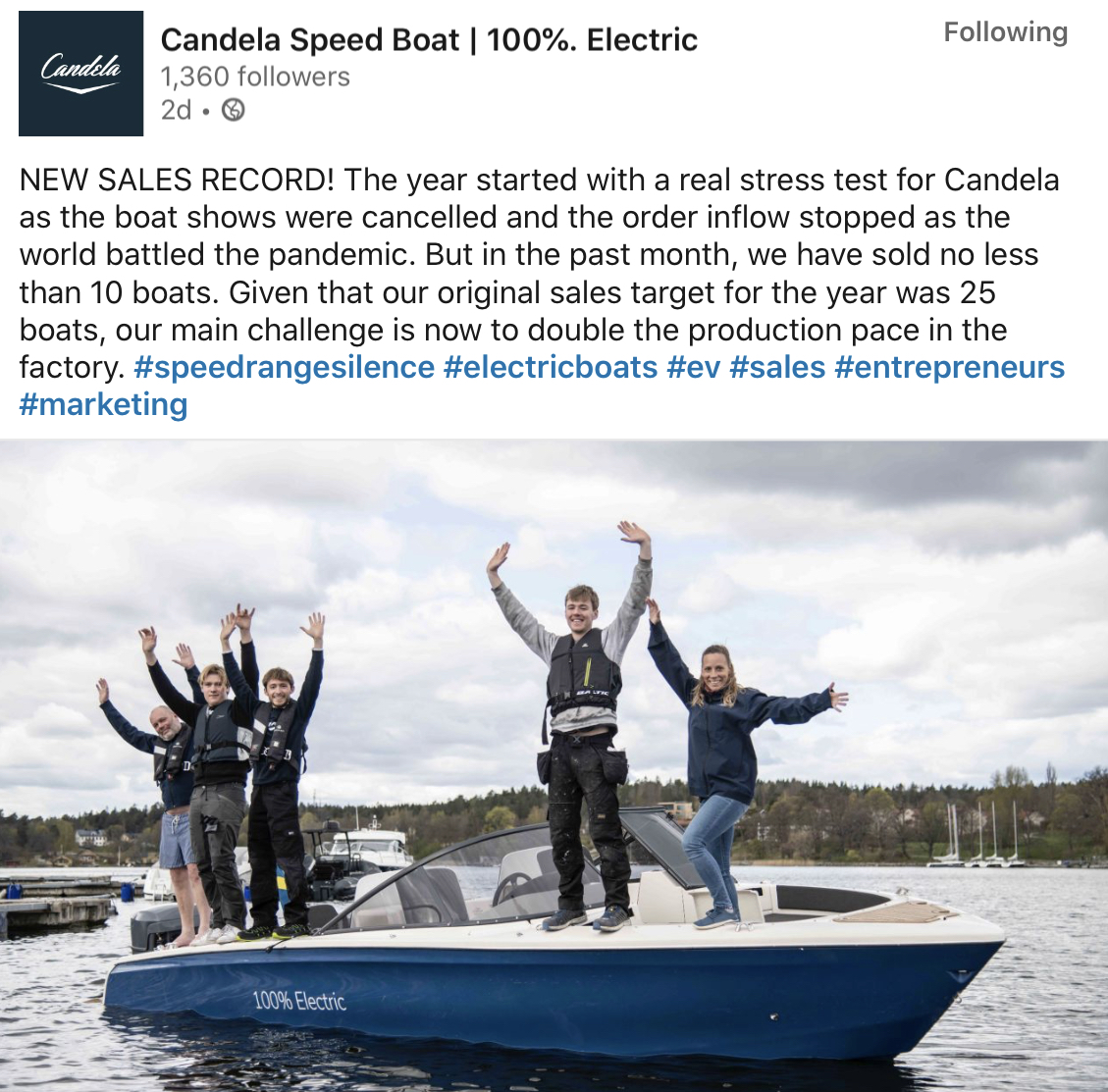 Candela Speed Boat | 100% Electric
