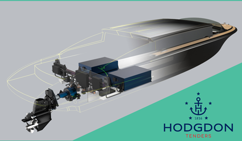 Hodgdon to offer all-electric superyacht tenders