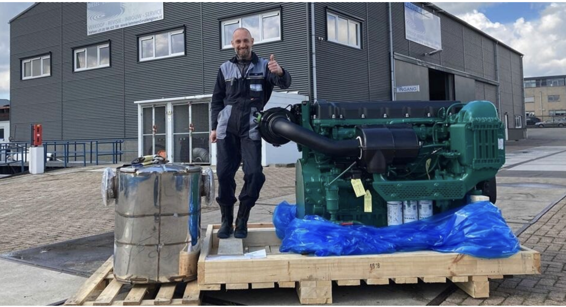 FIRST DELIVERY IN EUROPE: VOLVO PENTA IS NOW TAKING ORDERS ON ITS FULL STAGE V MARINE ENGINE RANGE