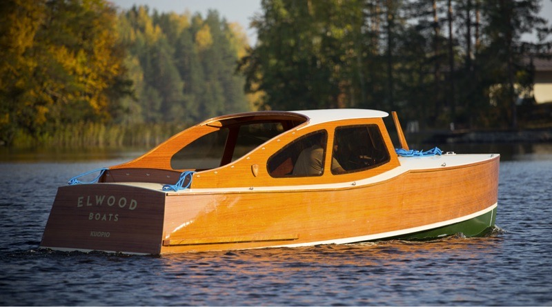 New Finnish handcrafted electric wooden boat: Elwood