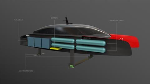 Team NZ developing hydrogen-powered foiling chase boat